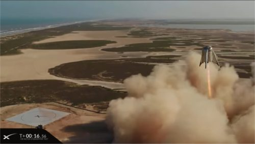 Starhopper Test Flight - Aug. 27, 2019