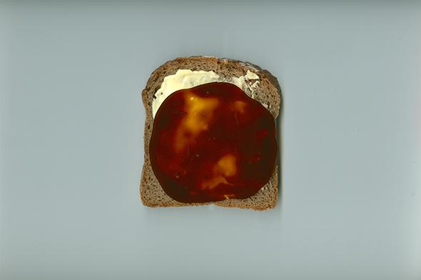 Stulle mit Grafschafter Goldsaft (Zuckerrübensirup)