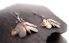 KSH Silver Moth Earrings - jewellery photography