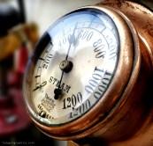 steam dial engine glass panel clock
