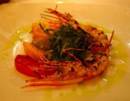Resep Poached Tiger Prawn With Corn Salsa And Mango Coulis