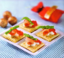 Resep Salmon Cracker