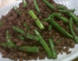 resep-daging-giling-tabur-kacang-panjang