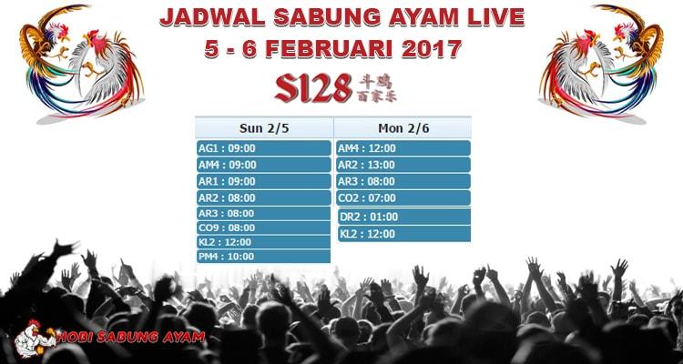 Jadwal-Terupdate-Sabung-Ayam-Live-Tanggal-5-6-Februari-2017