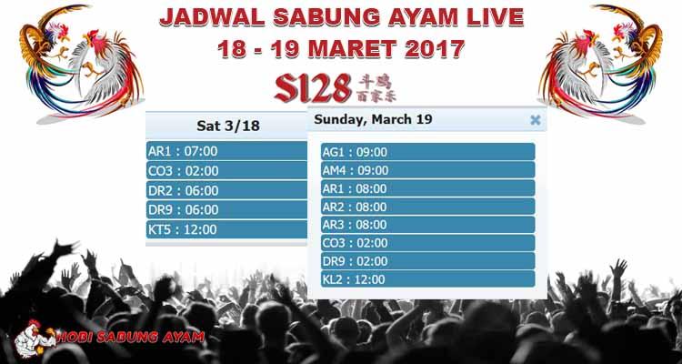 Jadwal Sabung Ayam Online Streaming 18 - 19 Maret 2017