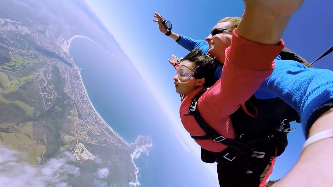 Skydiving in south africa plattenberg