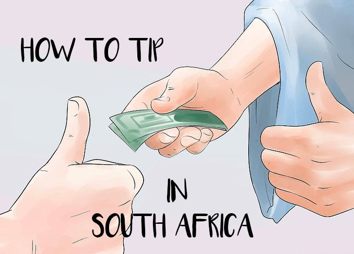 Illustration of a man tipping in South Africa