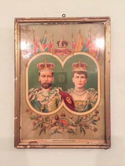 King George's poster in one of the rooms of piramal haveli