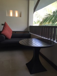 Image of the sitting out area of rooms in Alila Diwa Goa
