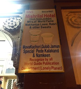 Mishrilal Hotel famous for makhaniya lassi at clocktower jodhpur