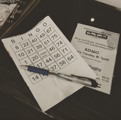 Play Bingo at Fork and Train Santos Express Restaurant
