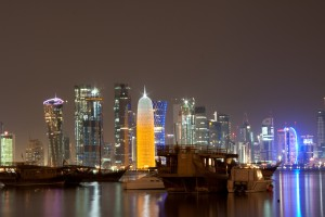 Doha, Qatar largest city. A population of about 1 million.