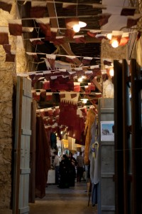 Souq Waqif, a marketplace and one of the favorite tourist spots in Doha.