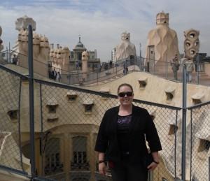 Barcelona, Spain: On the rooftop of Gaudi's La Pedrera