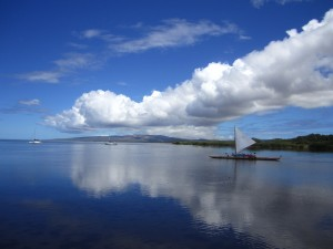 People do love their canoes on Moloka'i. Unspoiled beauty.