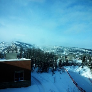 If I have to work, I like to have a view of a ski area. :-) Loving it.