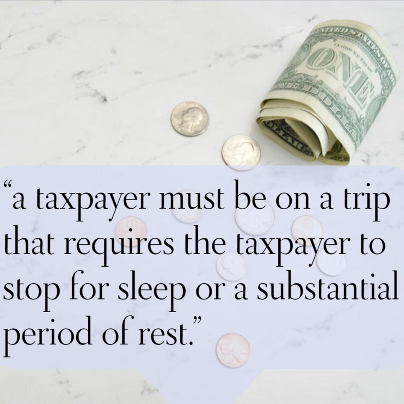 travel PT tax home rule
