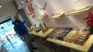 The range of cake at Vegan Heaven