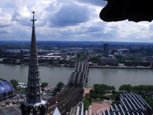 Köln: Hoch oben auf dem Kölner Dom