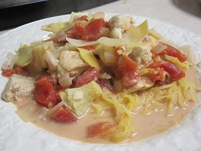 chicken artichoke spaghetti squash