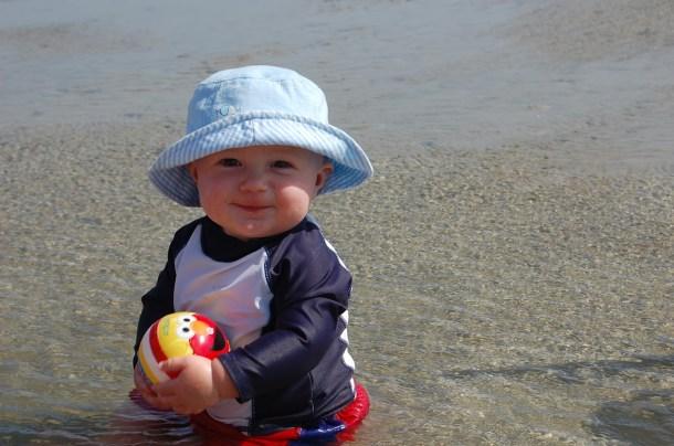 7 months beach baby
