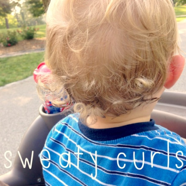 sweaty toddler curls