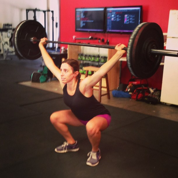 16 weeks pregnant overhead squats