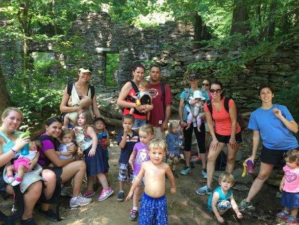 sope creek hike group