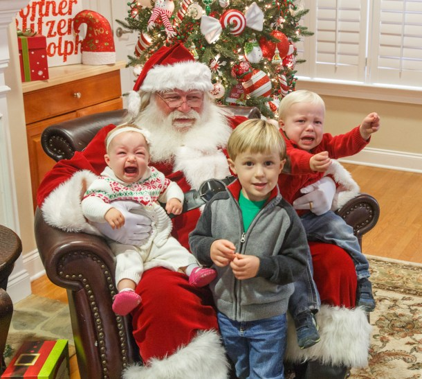 kids with santa 2015