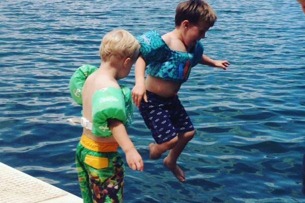 first dock swim
