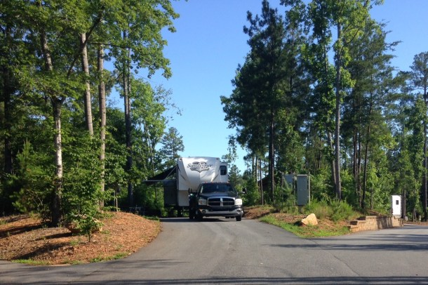Don Carter RV Site on hill