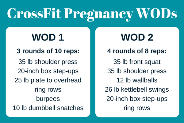 CrossFit Pregnancy WODs, crossfit mom wod