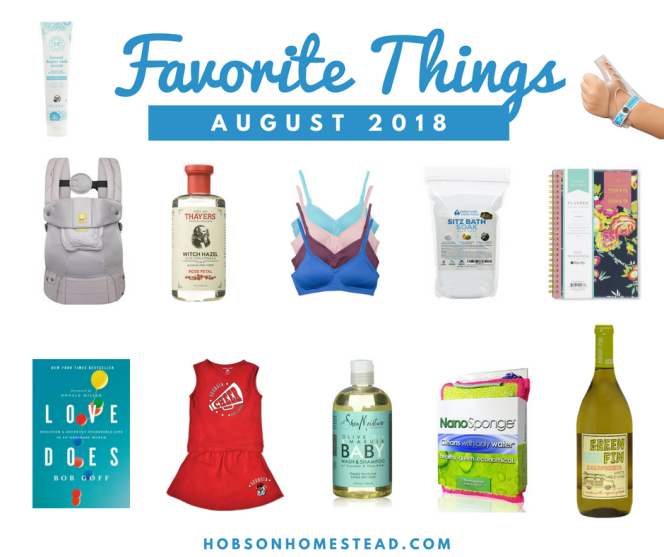 Favorite Things August 2018