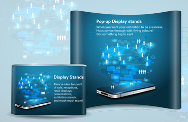 Exhibition Display Stands : Display stands pop up stands hobs reprographics