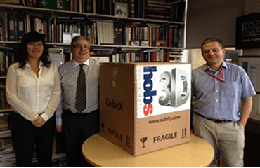 3D Printer for King's College London Courtesy Of Hobs Repro