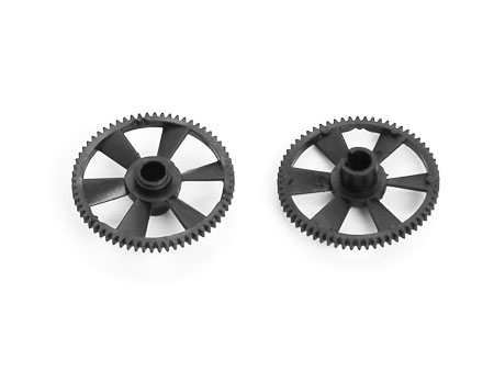 Main Gear (Black Delrin) (mSR & mCPX) – 2 pcs