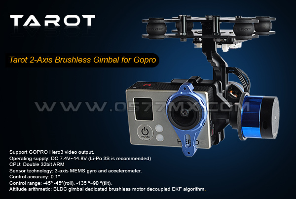 Tarot GoPro two-axis Brushless Gimbal for GoPro3