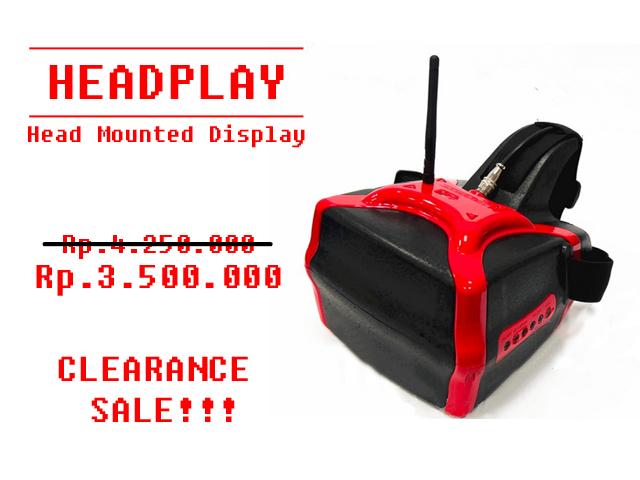 HeadplayHD Head mounted 7´ display