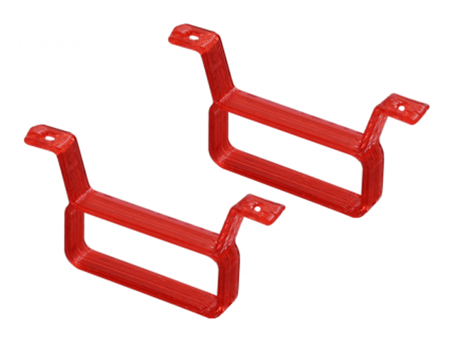 Rakonheli TPU 17×6.5mm Battery Mount (2) (Red)