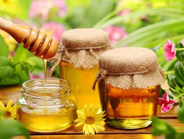 яичный желток и мед