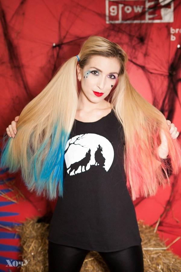 макияж харли квинн на хэллоуин