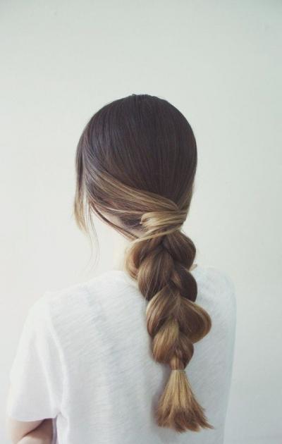объемная коса, небрежная коса