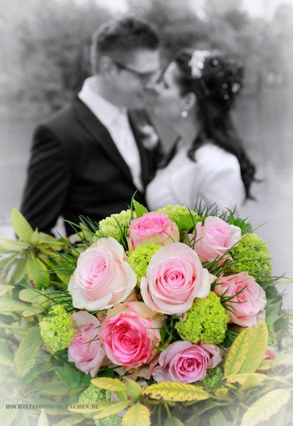 Hochzeit-Accessoires 12: Brautstrauß aus Rosen