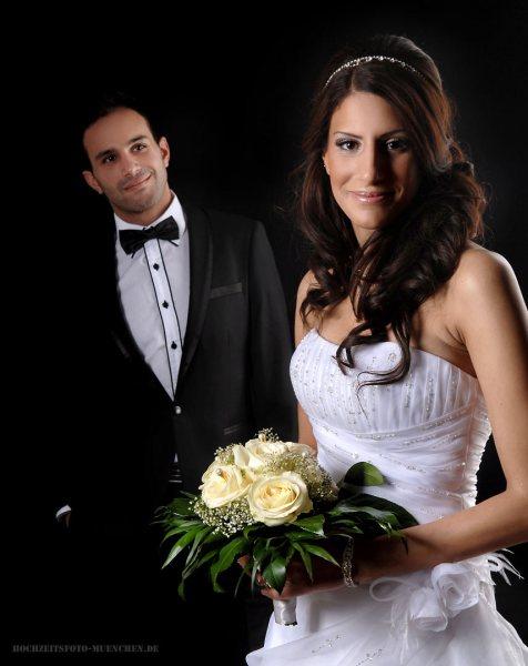 Brautpaarfotos im Fotostudio Wagner