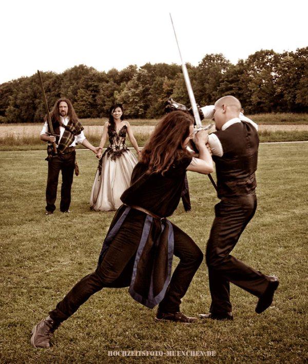 Hochzeitsreportage 17: Ritterkampf bei einer Hochzeitsfeier