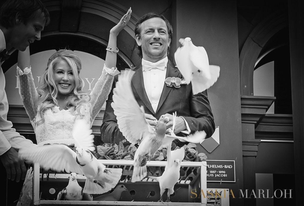 Hochzeitsfotografin im Güterbahnhof in Bad Homburg