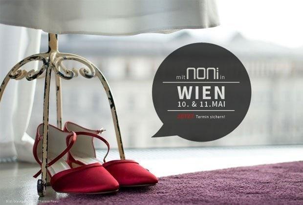 Brautgeflüster kommt mit Noni Brautmode kommt nach Wien