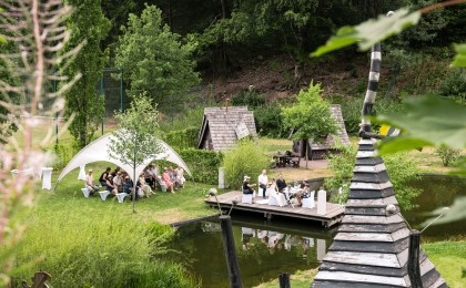 Der Naturerlebnispark bei Osterode bietet eine einzigartige Kulisse für die Hochzeit unter freiem Himmel.