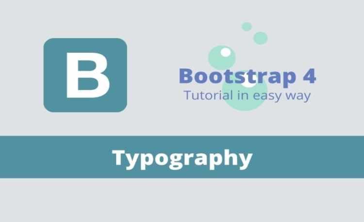 Văn bản trong Bootstrap 4