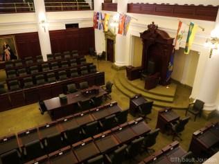 La chambre du parlement de l'Alberta.